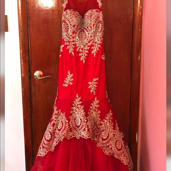 Tiffany Designs Dresses & Skirts - Red Prom Dress